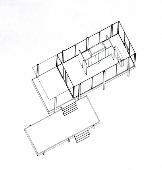 Plan de la Farnsworth House