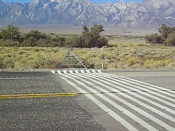 Lone Pine, CA Virtual Cattle Guard, Wikimedia Commons