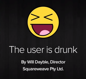 The user is drunk with Will Dayble