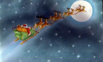 Traîneau du Père Noël en altitude