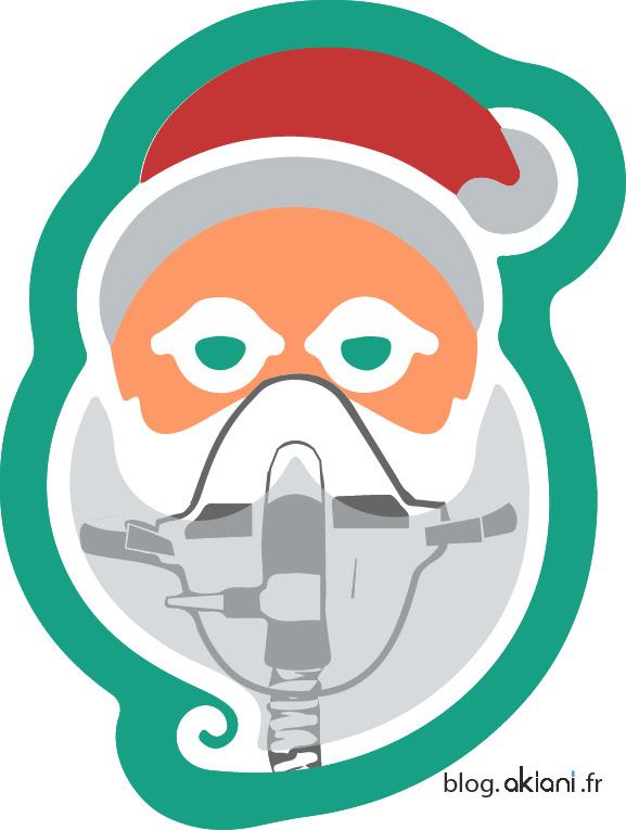 Masque à oxygène du Père Noël