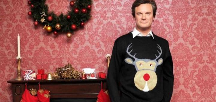 """Le parfait contre-exemple d'un cadeau pensé à l'avance et qui ne fait pas plaisir pour autant : le pull tricoté offert à Marc Darcy par sa mère dans le film """"Le Journal de Bridget Jones"""""""