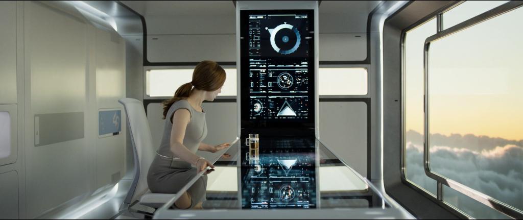Oblivion : Interfaces d'un poste de contrôle