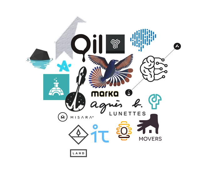 Planche tendance de la refonte du logo Akiani