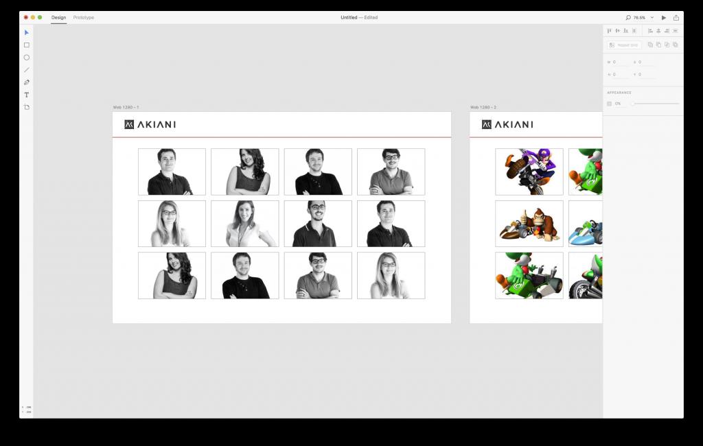 interface Adobe XD