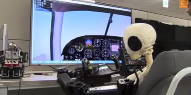 Robot pilot d'après reportage Euronews