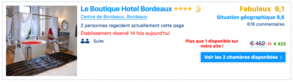 Exemple issu de Booking.com