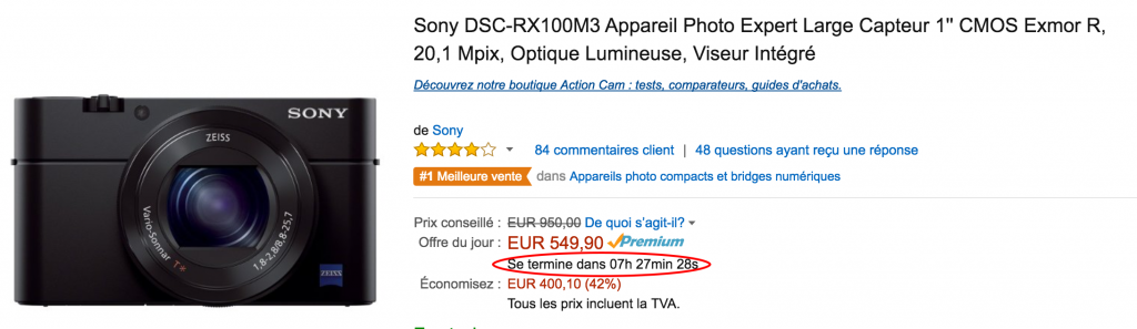Capture d'écran du site Amazon.fr