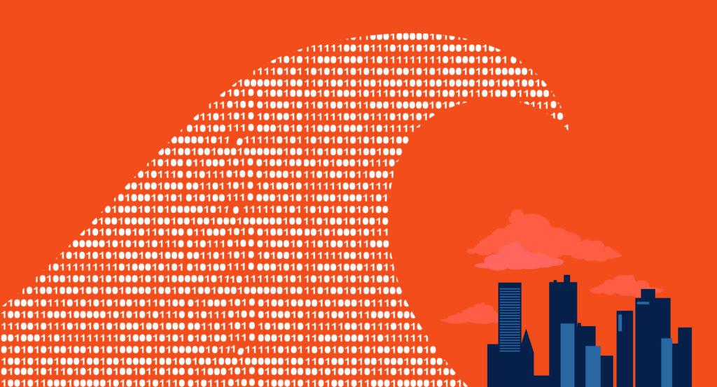 un tsunami de données s'écrase sur la civilité contemporaine