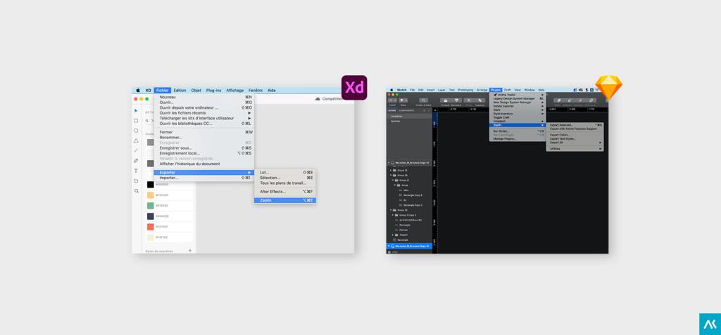 Exporter ses écrans sous XD et Sketch